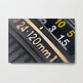 Modern zoom photo camera lens Metal Print