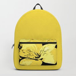 Bright Yellow Floral Design Backpack