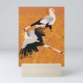 Secretary bird Mini Art Print
