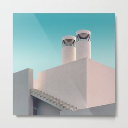 Geometry in white Metal Print
