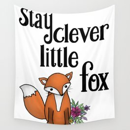 Clever Fox Wall Tapestry