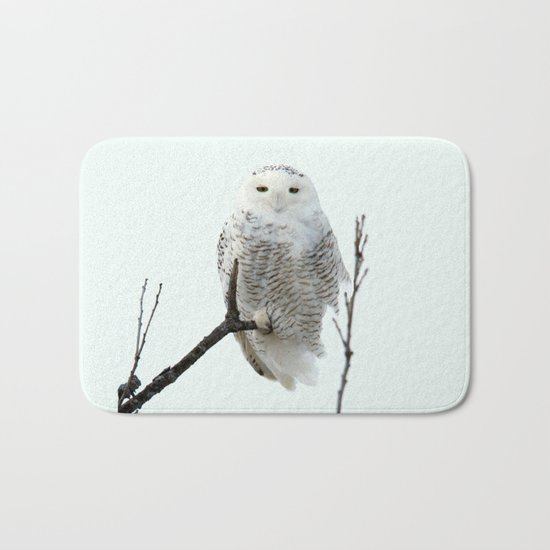 Snowy in the Wind (square) Bath Mat