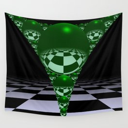 Apollonian gasket - green Wall Tapestry