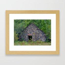 Delaware Michigan Mine Ruins Framed Art Print
