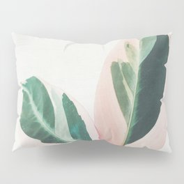 Pink Leaves I Pillow Sham