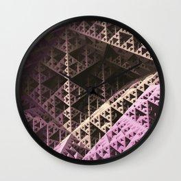 Pastel Pyramidz Wall Clock