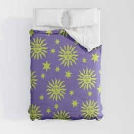 Mid Century Modern Sun and Star Pattern 222 Comforters