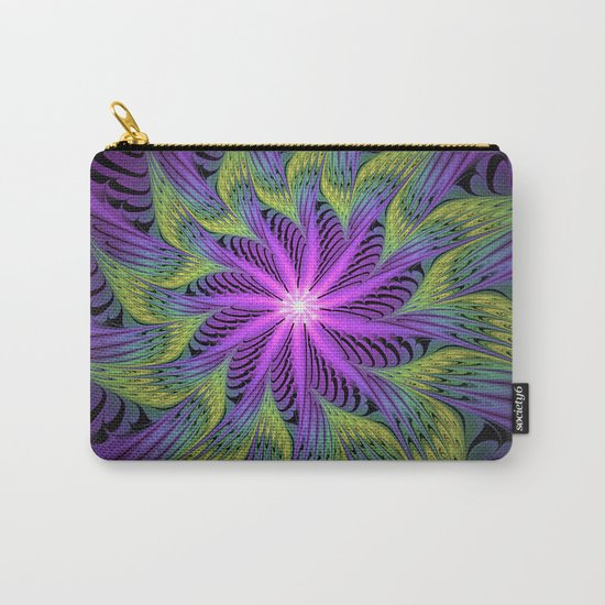 The Light from the Center, Fantasy Fractal Art Carry-All Pouch