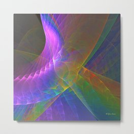 Fractal Rainbow Metal Print