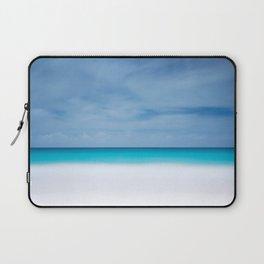 Tropical paradise beach turquoise sea ocean nature travel hipster Caribbean Fiji horizon photograph Laptop Sleeve