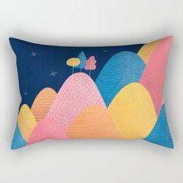 Night Mountains Rectangular Pillow