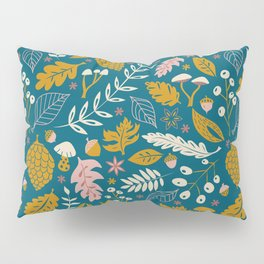 Fall Folige in Blue and Gold Pillow Sham
