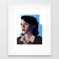 peggy carter Framed Art Prints featuring Peggy carter.  by tantoun