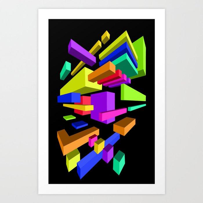Original Geometric Perspective Artwork Art Print