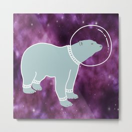 Space bear Metal Print