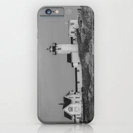 Eastern point Lighthouse Black and White aug2017 iPhone Case