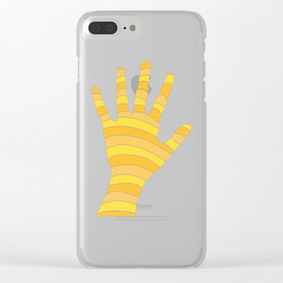A Reaching Hand Clear iPhone Case