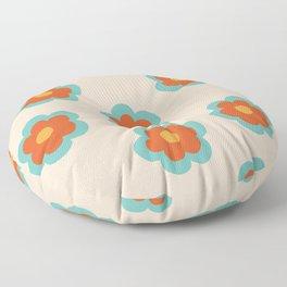 70s Retro Flowers  Floor Pillow