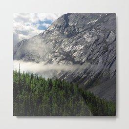 Remnants of Morning Fog in Canadian Rockies Metal Print