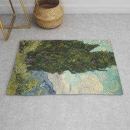 Cypresses by Vincent van Gogh Rug