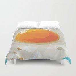 Fried Egg Polygon Art Duvet Cover