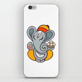 Hindu God Ganapati (Ganesha). Hand drawn illustration. iPhone Skin