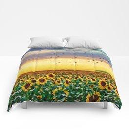 Golden Sunflower Field | Painting Comforters