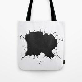 Abstract Black and White Wallpaper Tote Bag