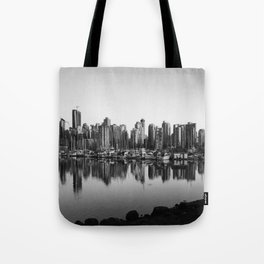 Black and White City Tote Bag