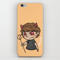 cyrilliart iPhone & iPod Skins featuring Emoji Devil: Louis by Cyrilliart