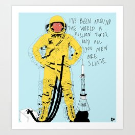 Astro-man Art Print