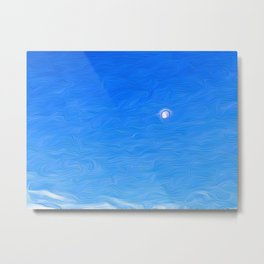 Moon Against the Morning Sky Metal Print