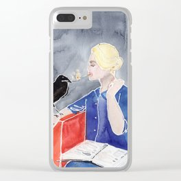 Tippi Hedren & a Crow Clear iPhone Case