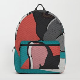 Icons of the Dog Park: French Bulldog Design in Bold Colors for Pet Lovers Backpack