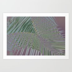 Trippy Pastel Palm Art Print