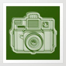 I Still Shoot Film Holga Logo - Reversed Green Art Print