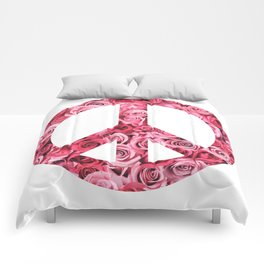 Peace and Flowers Comforters
