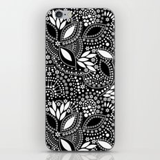 Placer of white beads on a black background . iPhone & iPod Skin
