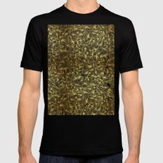 Gold Inklings LARGE Black Mens Fitted Tee