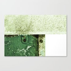 White Green Concrete Canvas Print