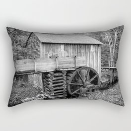 Cable Mill - Old Mill in Great Smoky Mountains Rectangular Pillow