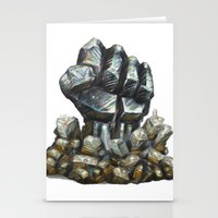 minerals Stationery Cards featuring Minerals and rocks by YISHAII