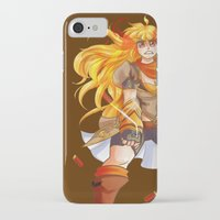 rwby iPhone & iPod Cases featuring Yellow beauty burns Gold by nerdgasmz