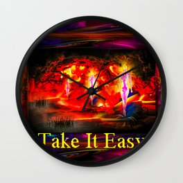 Heavenly apparition  - Take It Easy Wall Clock
