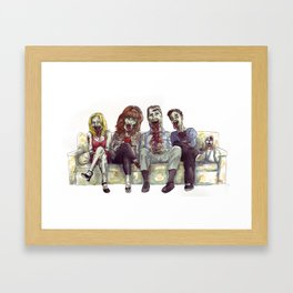 Dead whit children Framed Art Print