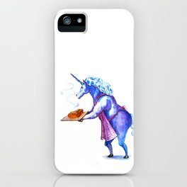 This unicorn made some pie iPhone Case