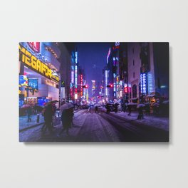 Shibuyascapes Snowy Night Metal Print
