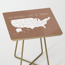 The Hand-Painted National Parks of America Side Table