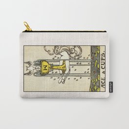 ACE OF CUPS / WHITE Carry-All Pouch