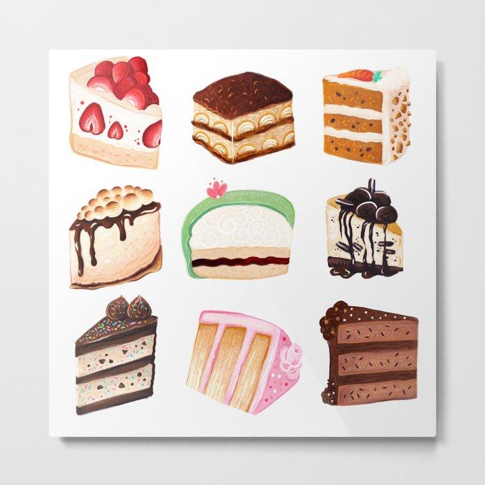 Yummy Cakes Metal Print